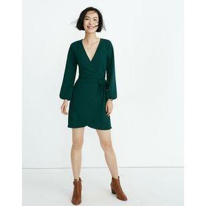 Madewell | NWT Long Sleeve Side-Tie Surplice Dress